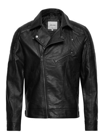 Jack & Jones Jcorocky Biker Pu Jacket Nahkatakki Musta Jack & J S BLACK