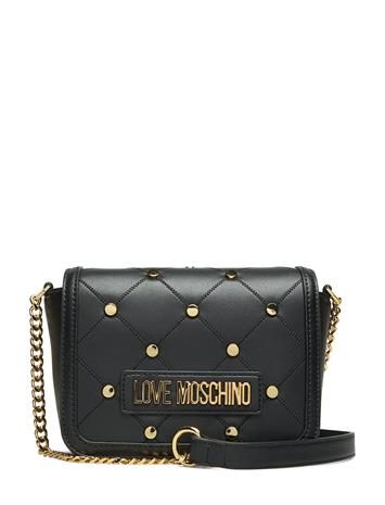 Love Moschino Bags Studs On Quilted Bags Small Shoulder Bags - Crossbody Bags Musta Love Moschino Bags BLACK