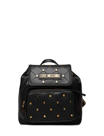 Love Moschino Bags Studs On Quilted Bags Backpacks Fashion Backpacks Musta Love Moschino Bags BLACK