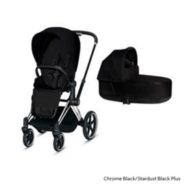 Cybex Priam yhdistelmävaunu (paketti) Chrome Black - Stardust Black PLUS