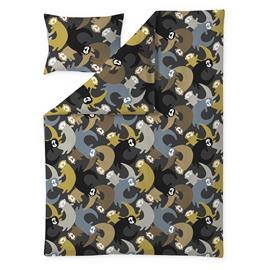 Finlayson Lutralutra pussilakanasetti, 150x210+50x60, tummanharmaa/keltainen