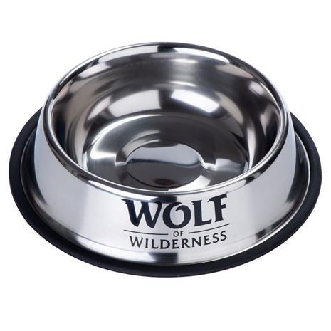 Liukumaton Wolf of Wilderness -teräskuppi koirille - säästöpakkaus: 2 x 850 ml, ä˜ 23 cm