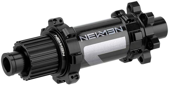 NEWMEN MTB Rear Hub 12x148mm 6-Bolt Shimano MicroSpline Gen2, black anodized/grey