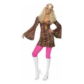 70-luvun Hippie mekko Peace Naamiaisasu