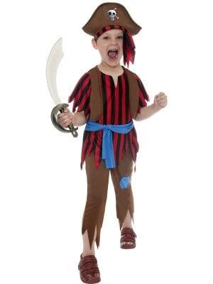 Pirat Pojke Barn Maskeraddräkt