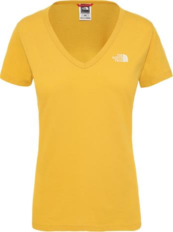 The North Face Simple Dome Lyhythihainen T-paita Naiset, golden spice