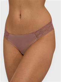 Lindex Invisible Lace Thong Dusty Pink