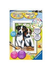 Ravensburger Painting by numbers-cute Puppies