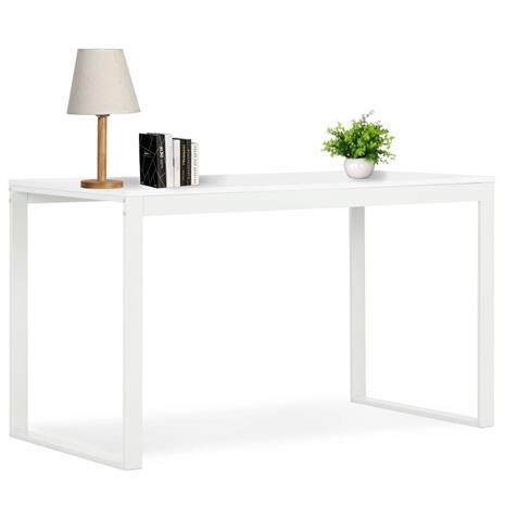 vidaXL Tietokonepöytä 120x60x73 cm valkoinen