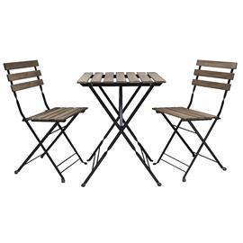 Pihakalustesarja jossa ulkopöytä ja kaksi tuolia