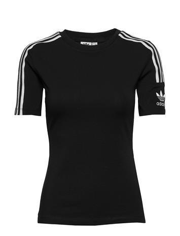 adidas Originals Tight Tee T-shirts Short-sleeved Musta Adidas Originals BLACK/WHITE