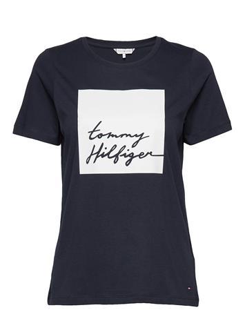 Tommy Hilfiger Alissa Regular C-Nk Tee Ss T-shirts & Tops Short-sleeved Tommy Hilfiger DESERT SKY