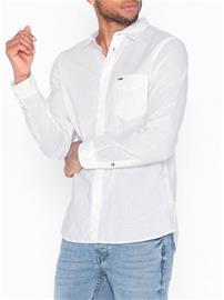 Tommy Jeans Tjm Linen Shirt Kauluspaidat White
