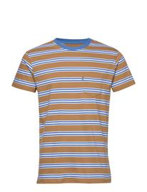 Mads Nä¸rgaard Summer Stripe Troll T-shirts Short-sleeved Monivärinen/Kuvioitu Mads Nä¸rgaard TOBACCO BROWN