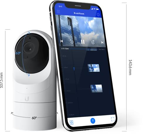 Ubiquiti UniFi G3 Flex, valvontakamerat 5 kpl