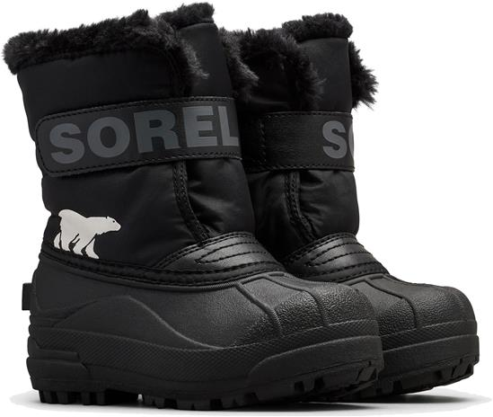 Sorel Children's Snow Commander Talvisaappaat, Black/Charcoal 31