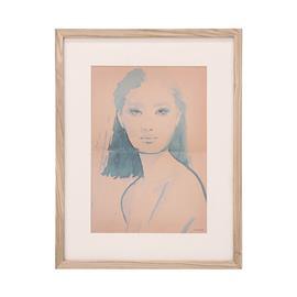 HKLiving Tiny Art Frame M: Aimee, kehystetty taulu 35 x 45 cm