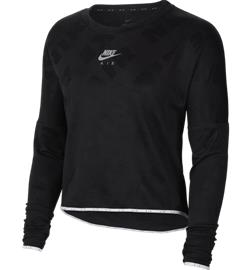 Nike W NK AIR MIDLAYER CREW BLACK/REFLECTIVE S