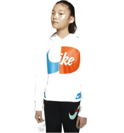 Nike G NSW FLC JDIY HOODIE WHITE
