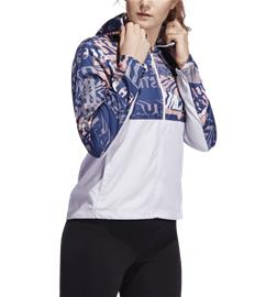 Adidas W OWN THE RUN JKT DSHGRY/GLOPNK/TECI