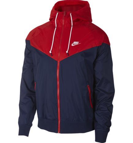 Nike M NSW HE WR JKT HD RED/NAVY