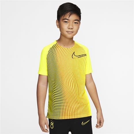 Nike CR7 B NK DRY TOP SS LEMON-VENOM/BLACK