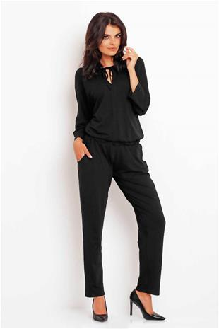 Naisten housupuku, musta, L(40)