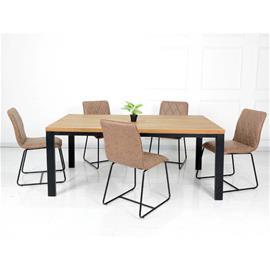 Ruokapöytä Aaron 90 x 180 cm, tammi/musta