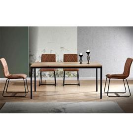 Ruokapöytä Moze 90 x 200 cm, tammi/musta