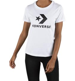 Converse W SCRIPTED STAR CHEVRON CREW T-SHIRT WHITE