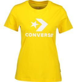 Converse W SCRIPTED STAR CHEVRON CREW T-SHIRT AMARILLO
