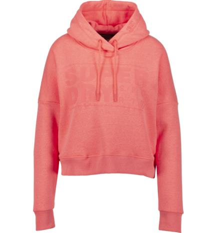 Superdry W CORE SPORT CROP HOOD CORALL