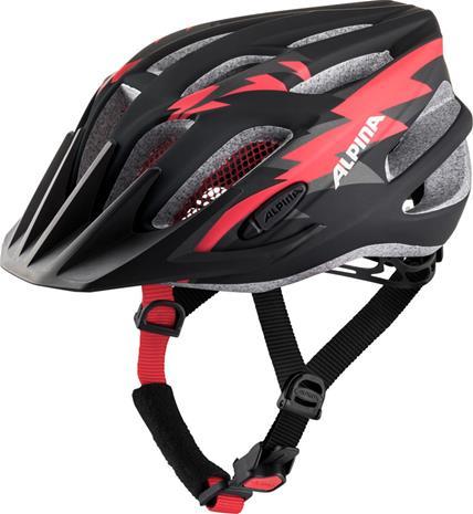 Alpina FB 2.0 L.E. Helmet Youth, black-red matt