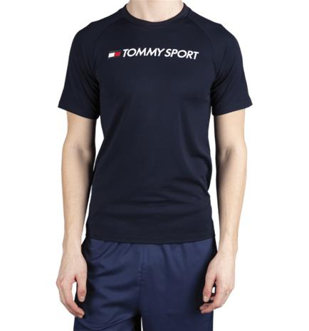 Tommy Sport M TRAINING TOP MESH LOGO DESERT SKY