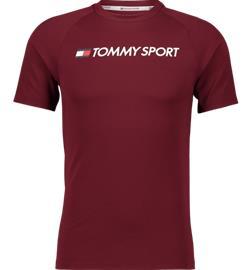 Tommy Sport M TRAINING TOP MESH LOGO DEEP ROUGE