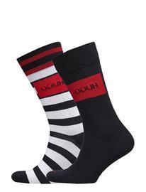 HUGO 2p Stripe Cc Underwear Socks Regular Socks Sininen HUGO DARK BLUE
