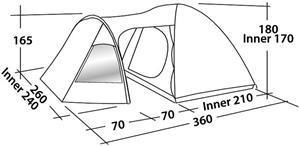 Easy Camp Corona 400 Tent, turquoise