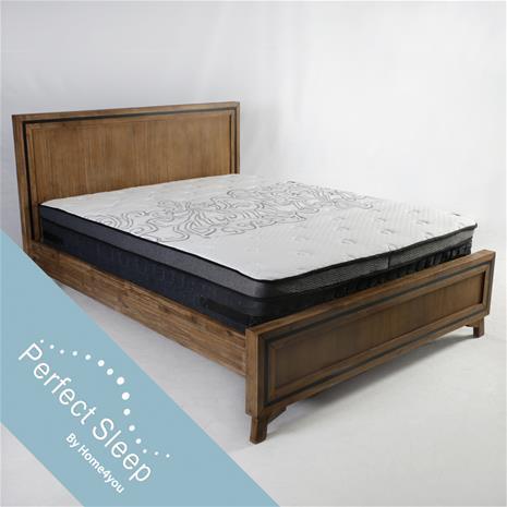 Sänky RICHARD patjalla HARMONY DELUX (85266) 160x200cm, puu: akaasia, viimeistely: lakattu