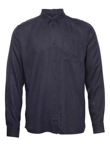 Les Deux Laurent Tencel Shirt Paita Rento Casual Sininen Les Deux DARK NAVY