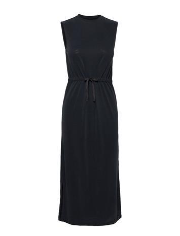 Superdry Desert Drawstring Midi Dress Polvipituinen Mekko Musta Superdry BLACK