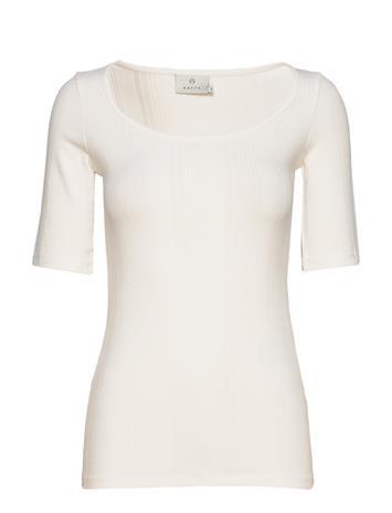 Kaffe Kamaria 1/2 Sl T-Shirt T-shirts & Tops Short-sleeved Musta Kaffe BLACK DEEP