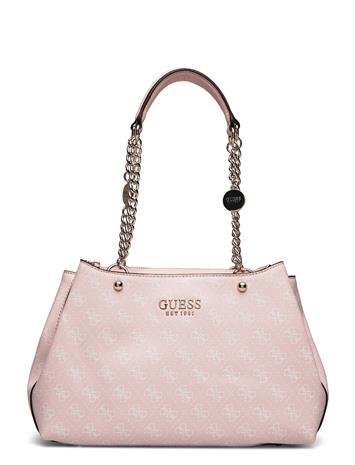 GUESS Lorenna Girlfriend Satchel Bags Top Handle Bags Musta GUESS COAL
