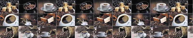 Dekorativt stänkskydd till köket COFFE BEANS