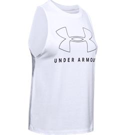 Under Armour W SPORTSTYLE GRAPHIC MUSCLE TANK WHITE BLACK