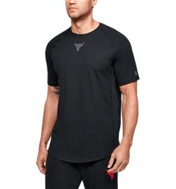 Under Armour M P R CHARGED COTTON SS BLACK/PITCH GRAY
