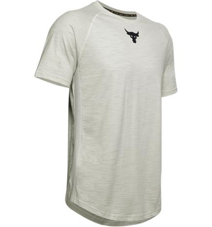 Under Armour M P R CHARGED COTTON SS SUMMIT WHITE/BLACK