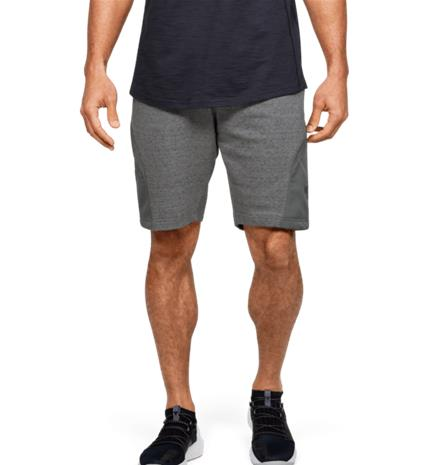 Under Armour M PROJECT ROCK TERRY SHORT PITCH GRAY FULL HE