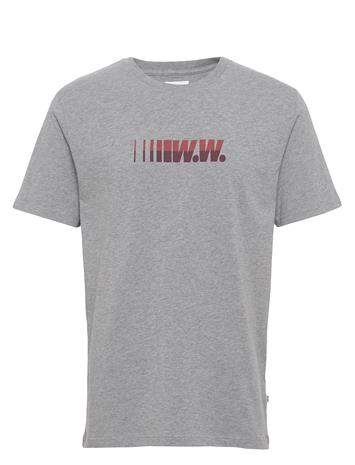 Wood Wood Split T-Shirt T-shirts Short-sleeved Harmaa Wood Wood GREY MELANGE