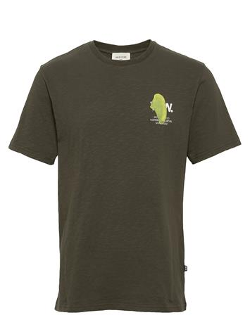 Wood Wood Slater T-Shirt T-shirts Short-sleeved Vihreä Wood Wood DARK GREEN