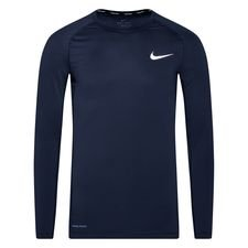 Nike Pro Compression Top - Navy/Valkoinen